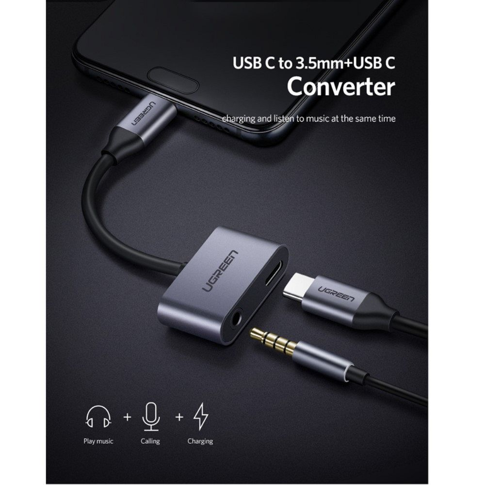 Konverter C-Type v audio 3,5mm i C-Type vhod
