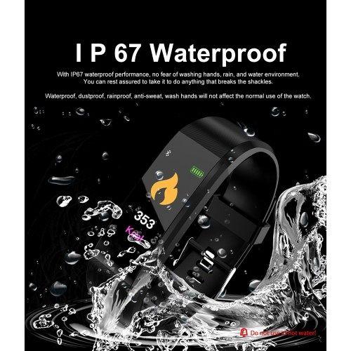 Pametna narukvica T01 (crna) waterproof
