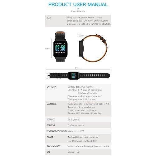 Smart watch M20 black