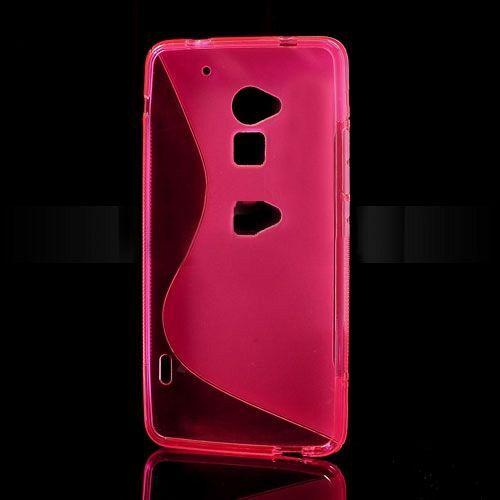 Maska TPU (ružičasta) za HTC One Max