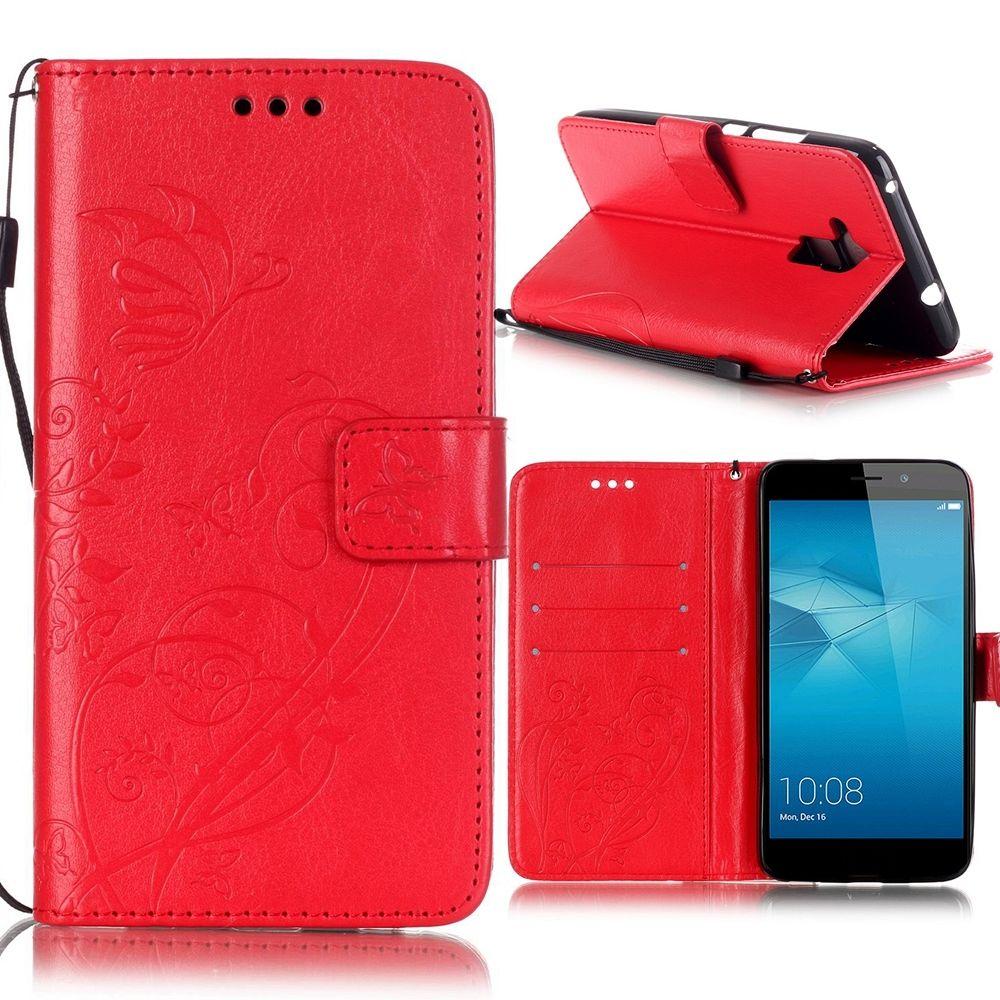 Preklopni ovitek (rdeč) za Huawei Honor 7 Lite/5c
