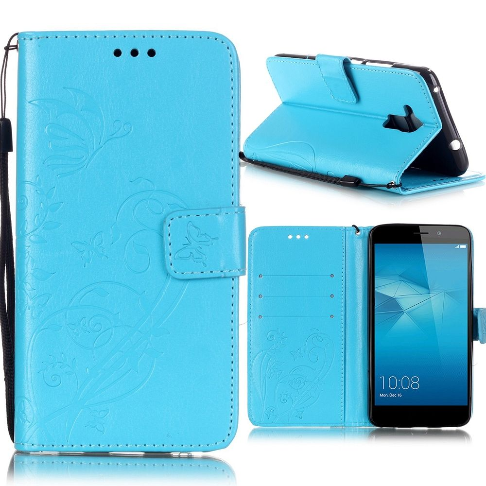 Preklopni ovitek (moder) za Huawei Honor 7 Lite/5c