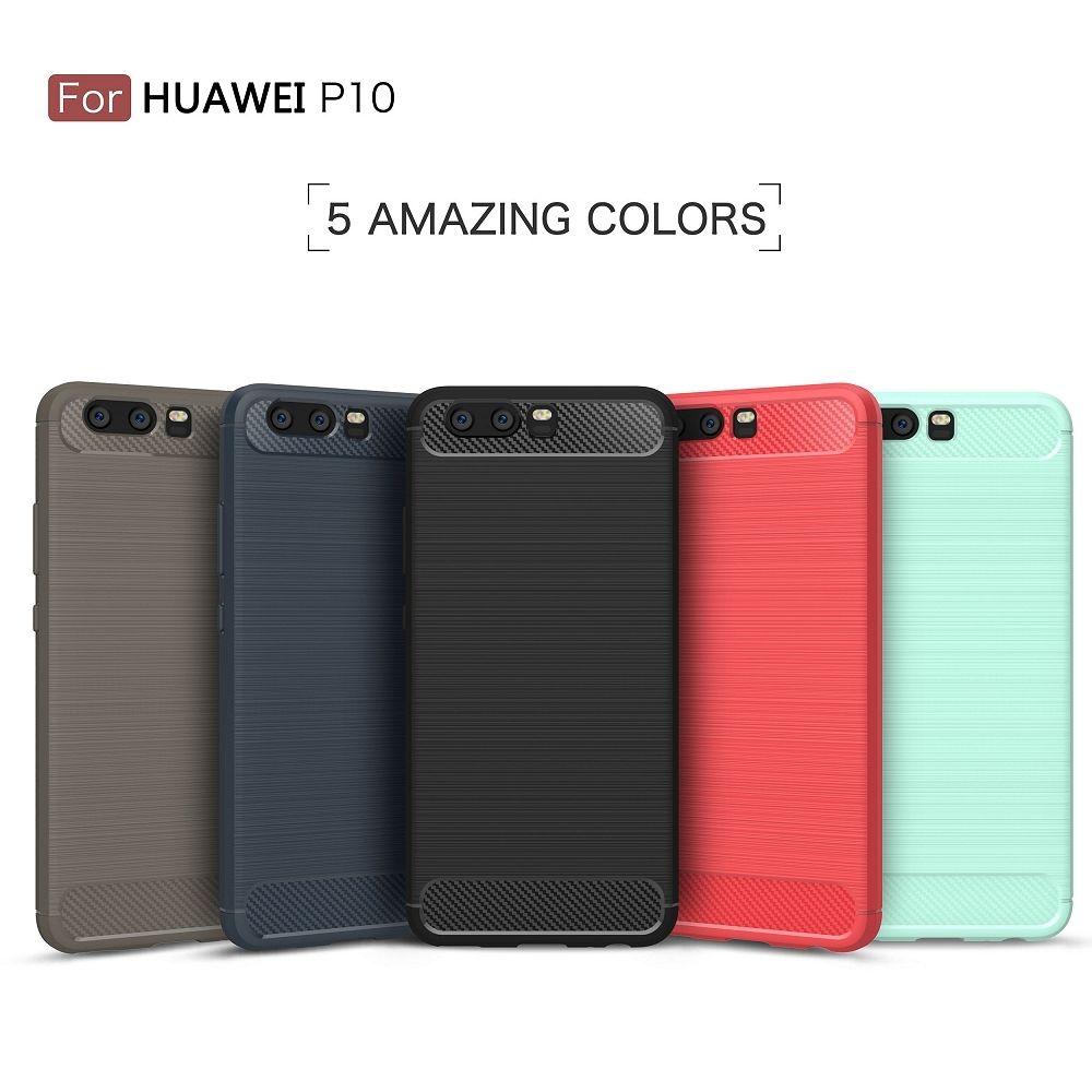 Ovitek TPU Carbon (temno moder) za Huawei P10