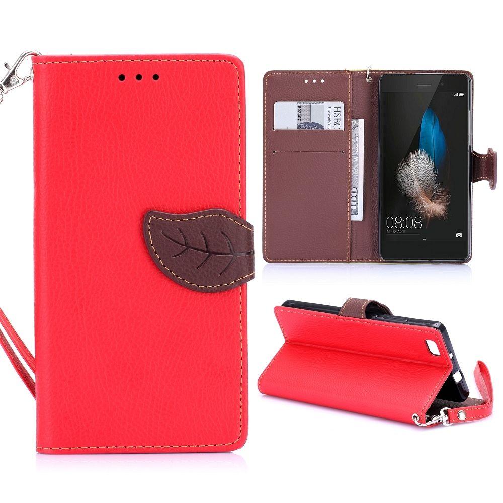 Preklopna maska (crvena) za Huawei P8 Lite