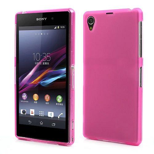 Maska TPU (tamno ružičasta) za Sony Xperia Z1