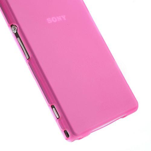 Ovitek TPU (temno roza) za Sony Xperia Z1