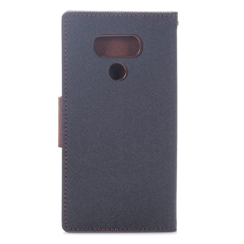Preklopni ovitek Goospery (črn+rjav) za LG G6