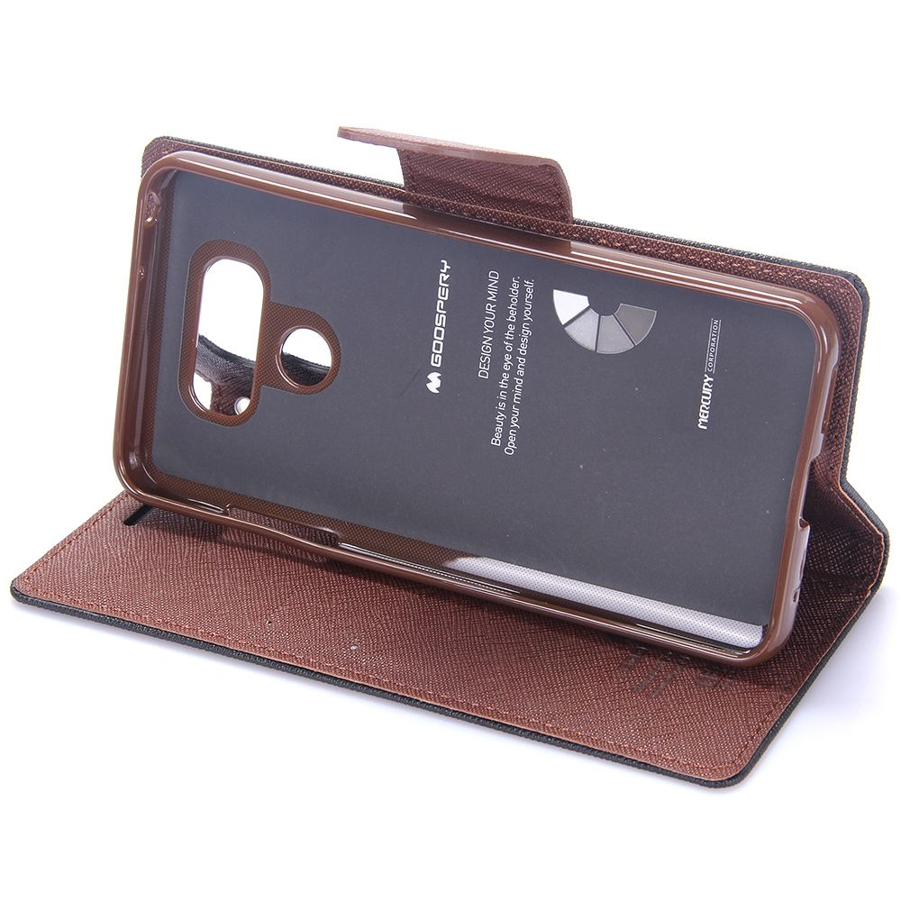 LG G6 Goospery (black and brown) flip tok