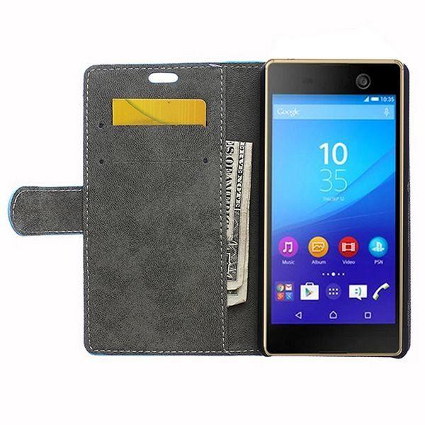 Preklopni ovitek (moder) za Sony Xperia M5