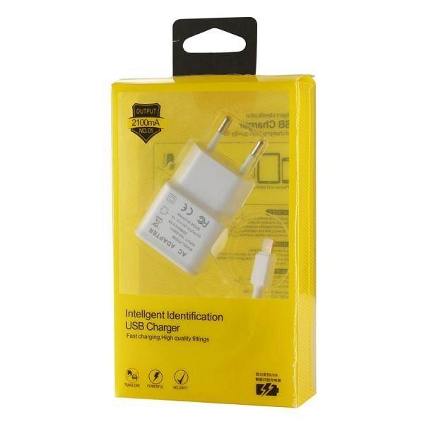 Adapter+kabel za iPhone (bijela)