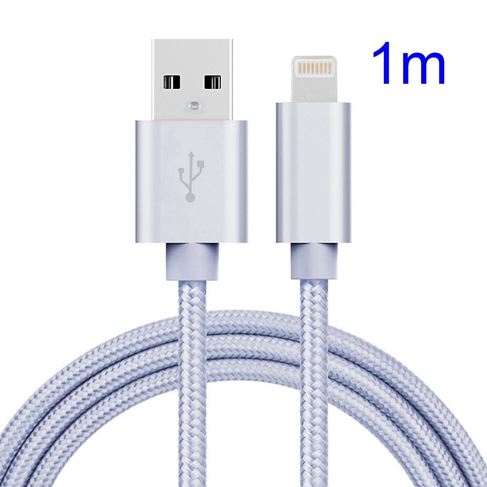 USB/8 Pin polnilni kabel (bel) za iPhone 5/6/6s/7 Plus