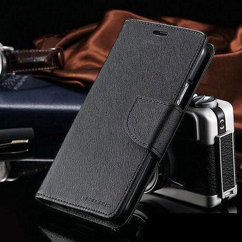 Preklopni ovitek Goospery (črn) za Samsung Galaxy S5