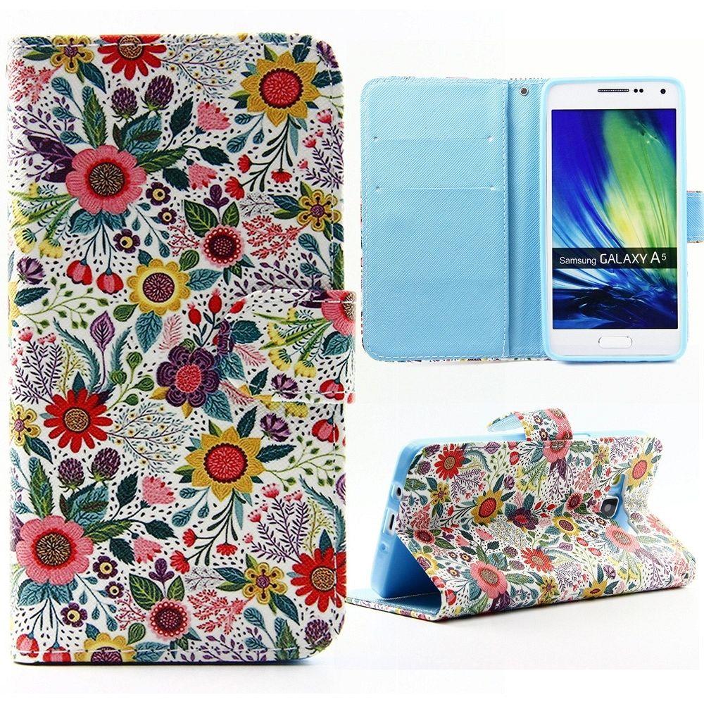Preklopni ovitek (Barvne rože) za Samsung Galaxy A5