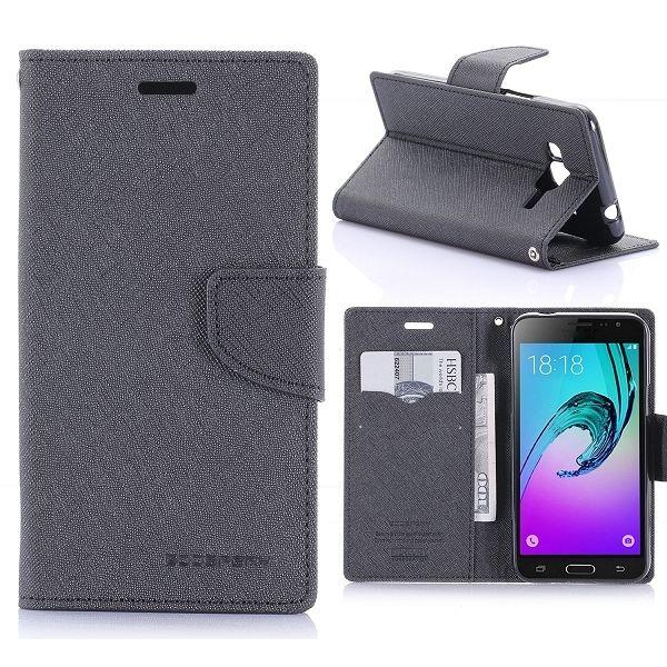 Preklopni ovitek Goospery (črn) za Samsung Galaxy J3/J3 2016