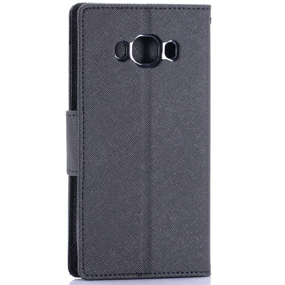Preklopni ovitek Goospery (črn) za Samsung Galaxy J5 2016