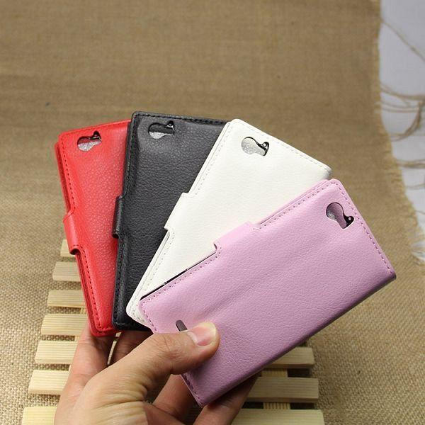 Preklopni ovitek (črn) za Sony Xperia M