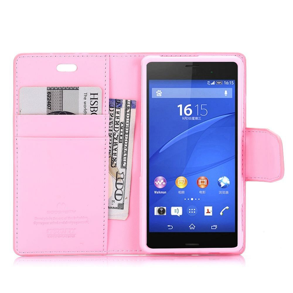 Preklopni ovitek (roza) za Sony Xperia Z3 Compact