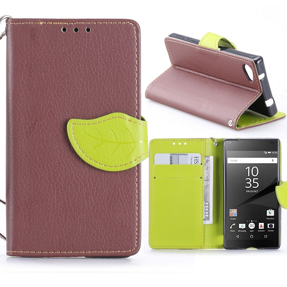 Sony Xperia Z5 Compact (brown) flip tok