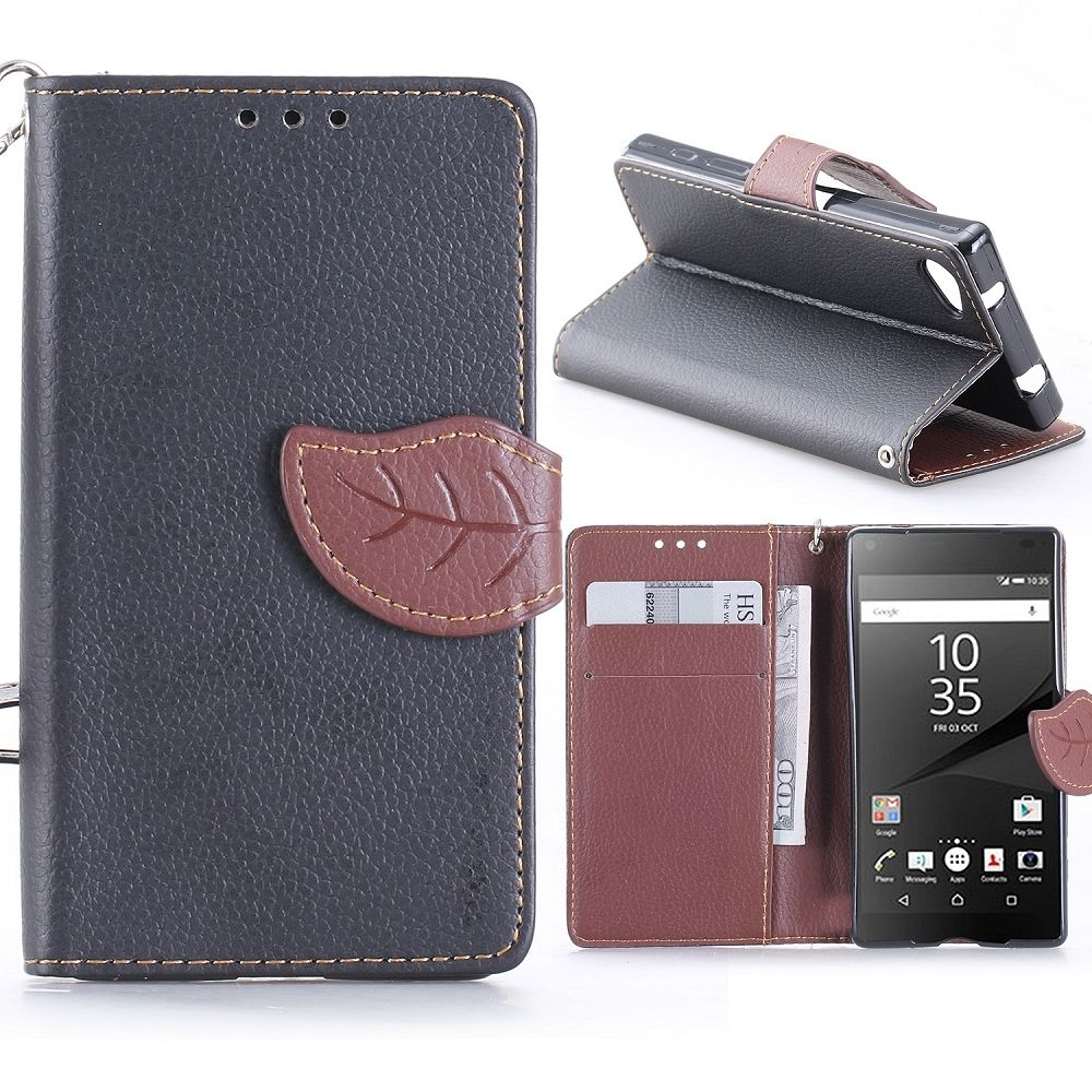 Sony Xperia Z5 Compact (black) flip tok