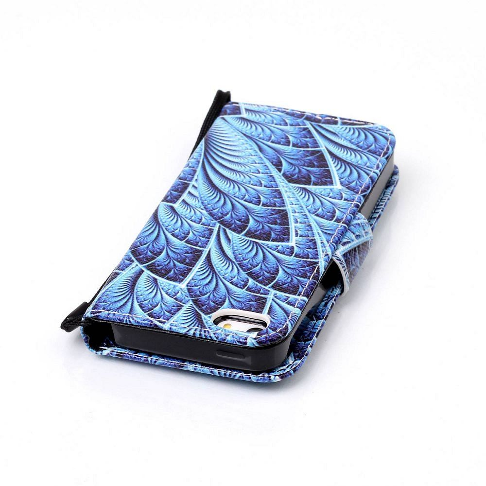 Preklopni ovitek Blue Pattern za iPhone 5/5S/SE
