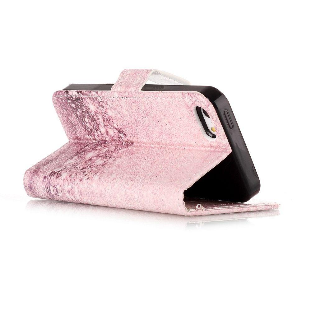 Preklopni ovitek (shining pink) za iPhone 5/5S/SE
