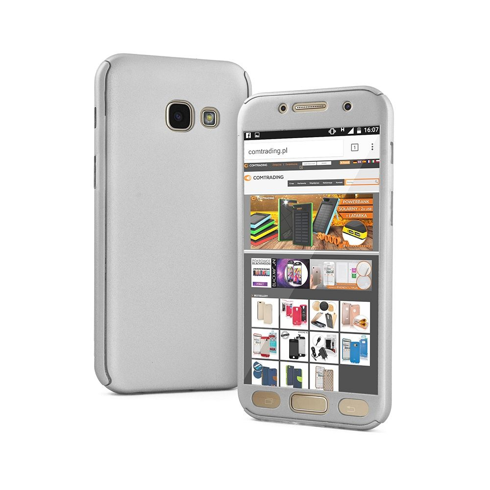 Maska 360° (srebrna) za Samsung Galaxy S7 Edge