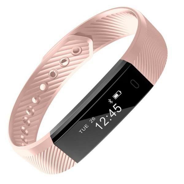 Pametna zapestnica D5 (pink) z merilcem srčnega utripa