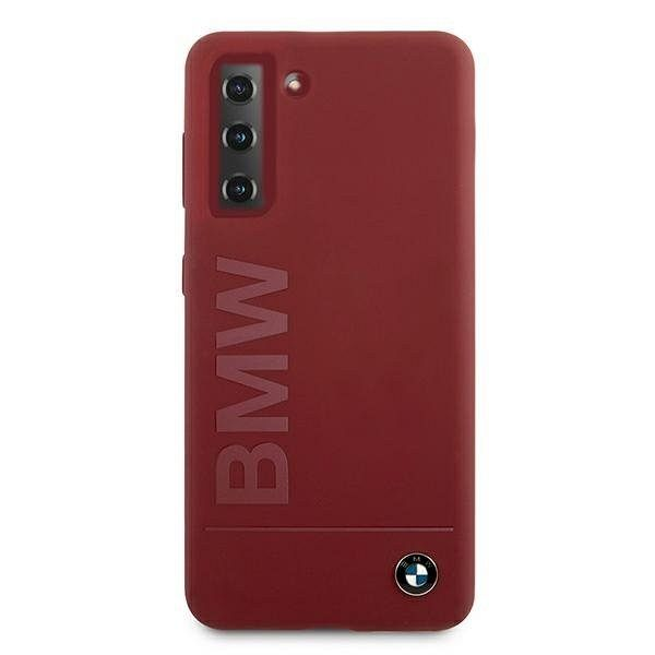 Originalna maska BMW (red) Silicone Signature Logo za Samsung Galaxy S21 Plus