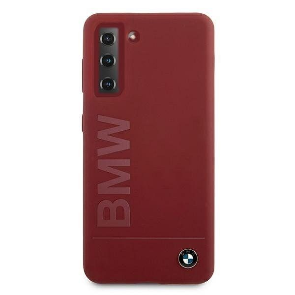 Originalna maska BMW (red) Silicone Signature Logo za Samsung Galaxy S21