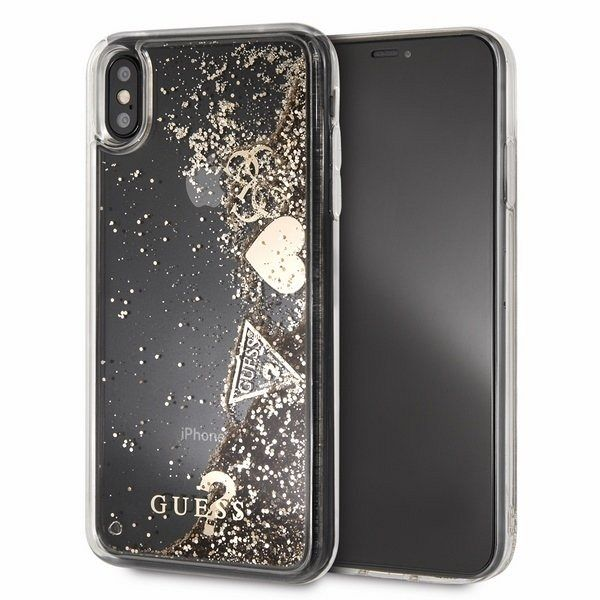 Original maska GUESS (sparkle heart) za iPhone Xs Max