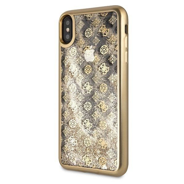 Original maska GUESS (gold sparkle) za iPhone XsMax