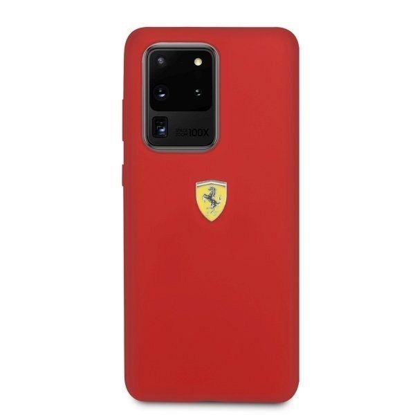 Originalna maska FERRARI (red) Silicone type za Samsung Galaxy S20 Ultra