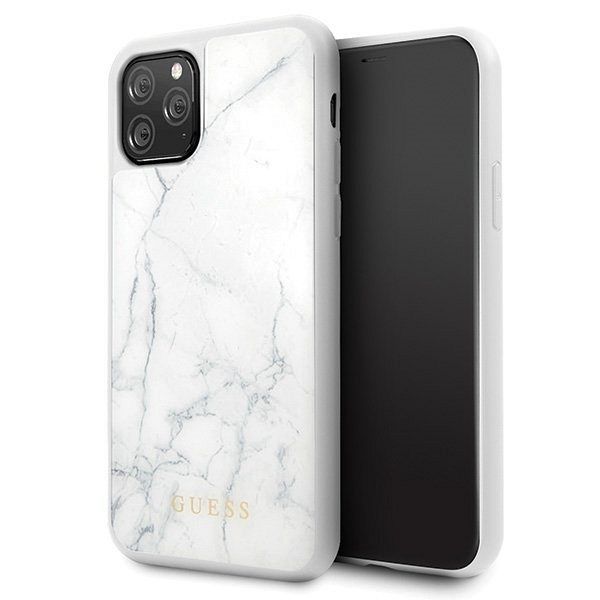 Originalna maska Guess (White marble) za iPhone 11 Pro
