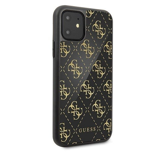 Originalen ovitek Guess 4G Double Layer Glitter za iPhone 11