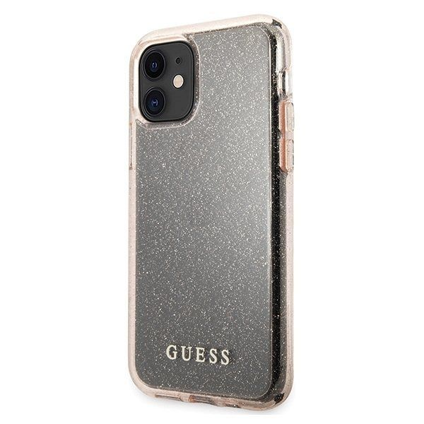 Maska GUESS (rose sparkle) za iPhone 11
