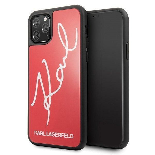 iPhone 11 Pro Karl Lagerfeld (Glitter Karl Signature Red) tok