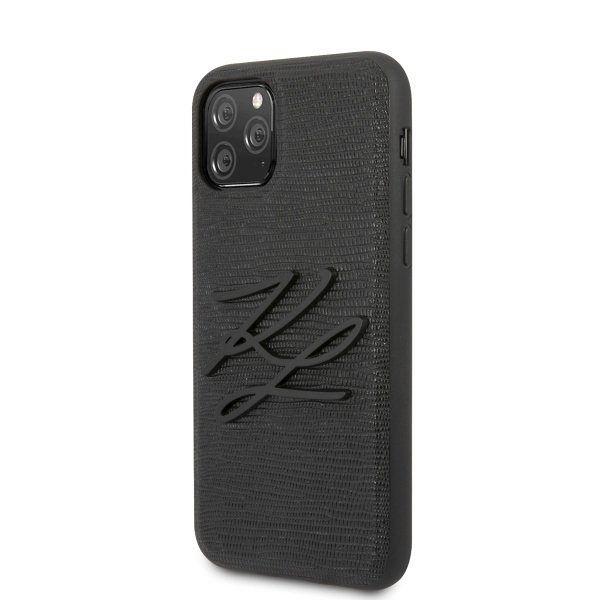 Original ovitek Karl Lagerfield (black KL) za iPhone 11 Pro