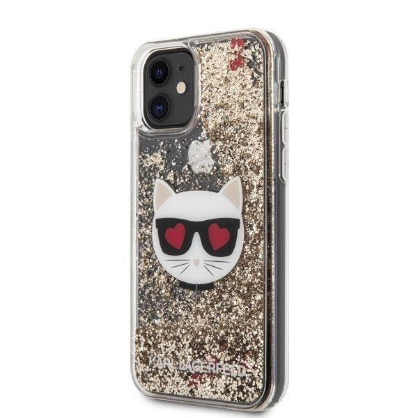 iPhone 11 KARL LAGERFELD (transparent) Glitter Choupette tok
