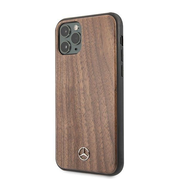 Originalna maska MERCEDES (brown) wood lines za iPhone 11 Pro