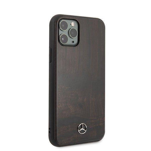 Originalna maska MERCEDES (dark brown) Wood line za iPhone 11 Pro Max