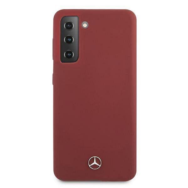 Originalna maska MERCEDES (red) leather za Samsung Galaxy S21
