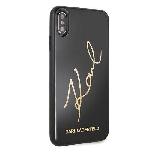 Originalen ovitek Karl Lagerfeld (Glitter Karl Signature) za iPhone 7/8