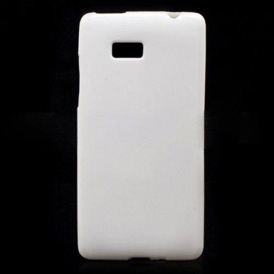 """Ovitek TPU """"Plain"""" (bel) za HTC Desire 600"""
