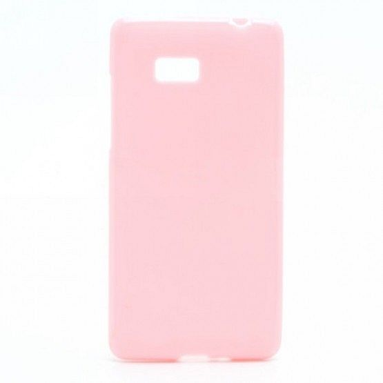 "Ovitek TPU ""Plain"" (roza) za HTC Desire 600"