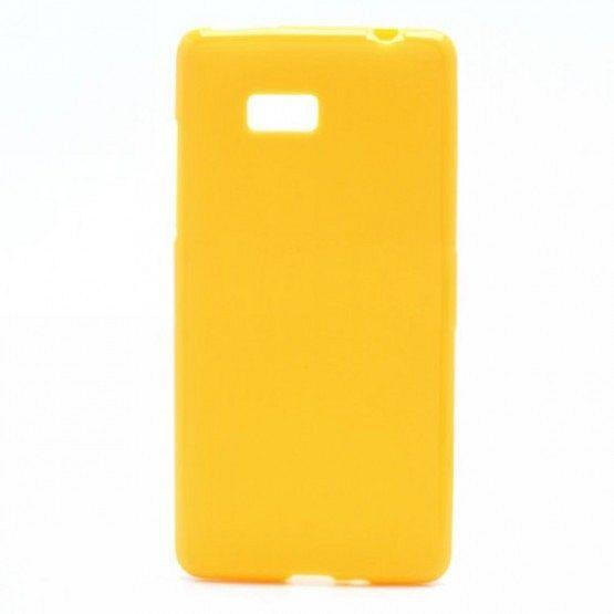 "Ovitek TPU ""Plain"" (rumen) za HTC Desire 600"