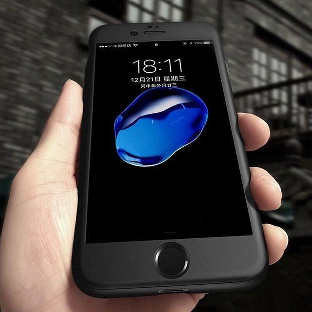 Ovitek 360° (črn) za Apple iPhone 8 Plus