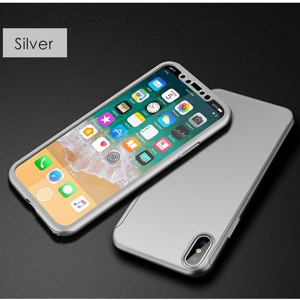 Ovitek 360° (srebrn) za Apple iPhone X