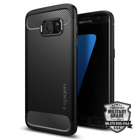 Samsung Galaxy S7 edge Spigen Rugged Armor (black) tok