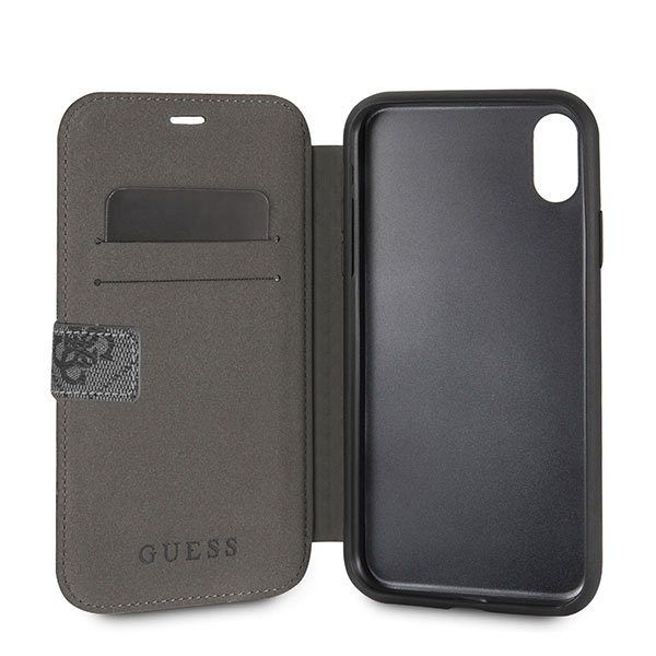 Originalen preklopni ovitek Guess (grey) za iPhone XR