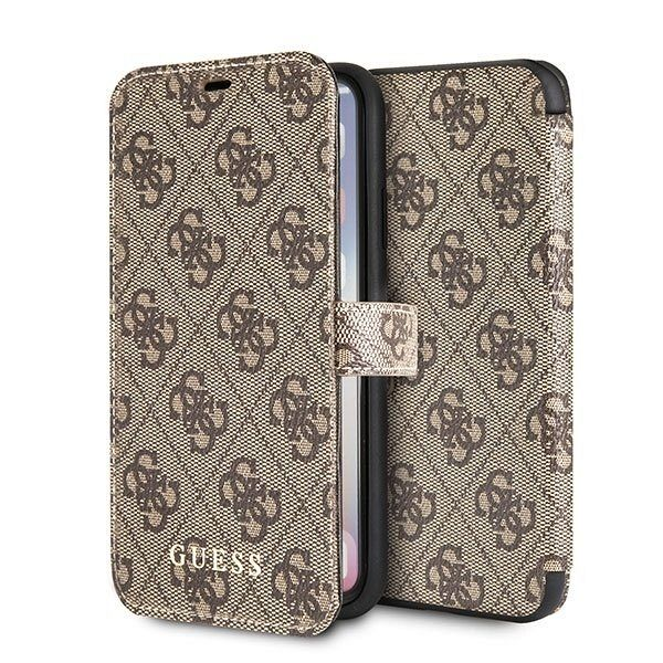 Originalna preklopna maska Guess (Brown) za iPhone X/XS